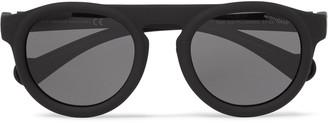 Moncler Round-Frame Acetate Polarised Sunglasses - Men - Black