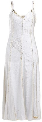 Racil - Marylin Sequinned Tulle Midi Dress - Womens - White Gold