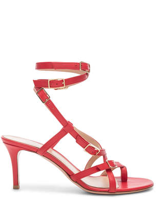 Gianvito Rossi Cory Buckle Strappy Heel in Tabasco Red | FWRD
