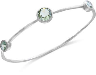 Effy Final Call by Green Amethyst Station Bangle Bracelet (8-5/8 ct. t.w.) in Sterling Silver