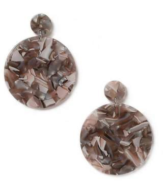 Miss Selfridge Grey marble earrings