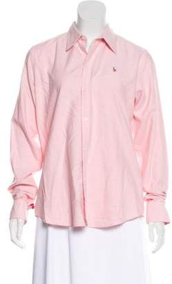 Ralph Lauren Long-Sleeve Button-Up Blouse