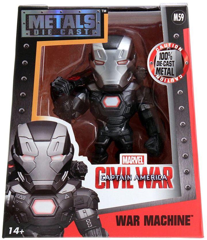 "Captain America: Civil War War Machine Die Cast Metals 4"" Figure"