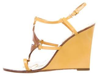 Louis Vuitton Fleur Patent Leather Wedges