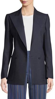 Burberry Leamington Pindot Wool Single-Button Jacket