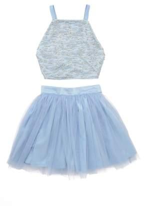 STELLA M LIA Stella M'Lia Two-Piece Beaded Tulle Dress