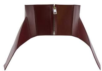 Alexander McQueen Leather Corset Belt - Womens - Burgundy