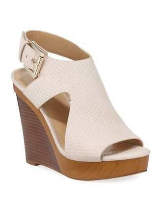 MICHAEL Michael Kors Josephine Snake-Embossed Wedge Sandals
