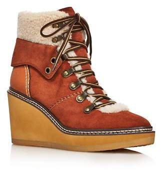 See by Chloe Women's Eileen Shearling-Lined Wedge Hiker Booties - 100% Exclusive