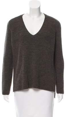 Hermes Rib Knit V-Neck Sweater