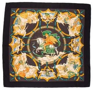 Hermes Cavaliers Des Nuages Silk Scarf