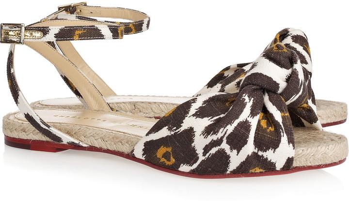Charlotte Olympia Marina leopard-print canvas sandals