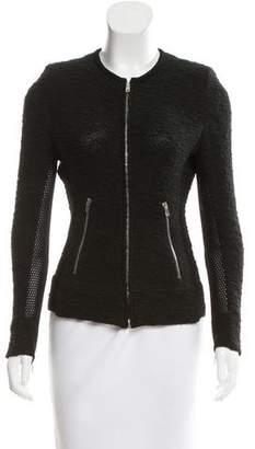 IRO Tweed Suede-Trimmed Jacket