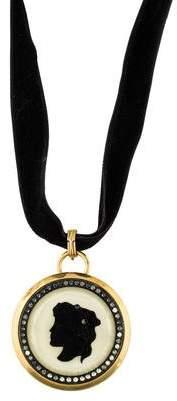 Lanvin Convertible Cameo Brooch Pendant Necklace