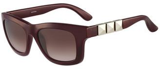 Valentino Women's Triple Stud Sunglasses $310 thestylecure.com