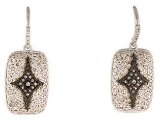 Armenta Diamond Rectangle Crivelli Drop Earrings