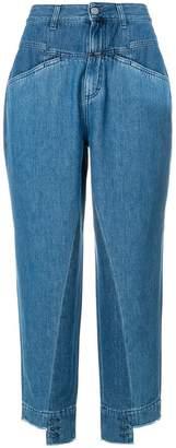 Closed high-waisted boyfriend jeans