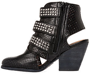 Jeffrey Campbell The Tripper Bootie in Black and Silver