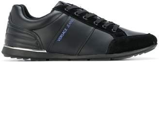 Versace paneled low-top sneakers