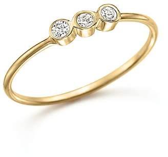 Chicco Zoë 14K Yellow Gold and Diamond Bezel-Set Ring