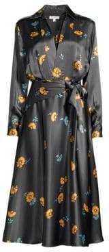Equipment Vivienne Silk Long Sleeve Print Dress