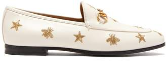 Gucci New Jordaan embroidered leather loafers