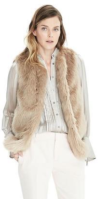 Faux Fur Vest $128 thestylecure.com