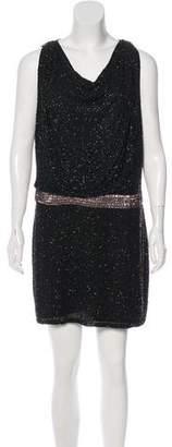 Haute Hippie Silk Sleeveless Mini Dress