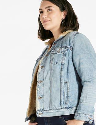 Lucky Brand Plus Size Sherpa Trucker Jacket