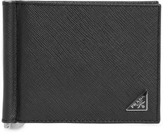 Prada Saffiano Leather Wallet W/ Money Clip
