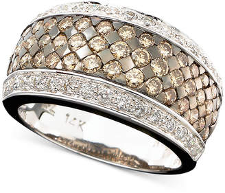 LeVian Le Vian Chocolate and White Diamond Band Ring in 14k Gold or 14k White Gold (1-5/8 ct. t.w.)