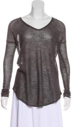 Helmut Lang High-Low Long Sleeve Sweater