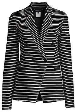 Lafayette 148 New York Women's Devin Asymmetric Striped Jacket - Size 0
