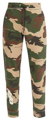 Off-White Off White Camouflage And Logo Print Track Pants - Mens - Camouflage
