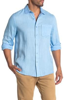 Raffi Front Button Linen Pocket Shirt