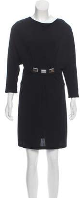 Barbara Bui Long Sleeve Knee-Length Dress Black Long Sleeve Knee-Length Dress