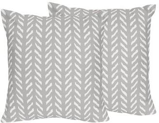 JoJo Designs Sweet Woodland Friends Herringbone Print Throw Pillow Sweet