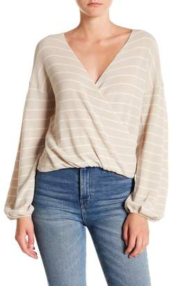 Abound Stripe Wrap Front Sweater