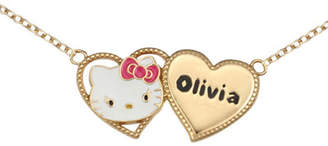Hello Kitty Personalized Girls Two Heart Necklace
