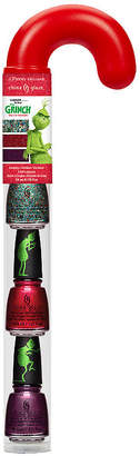 China Glaze CG Candy Canes Grinch 1 - Resting Grinch Face, Ho Ho No, You're a Mean One
