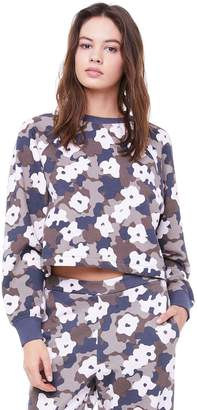 Juicy Couture Fleece Floral Camouflage Pullover