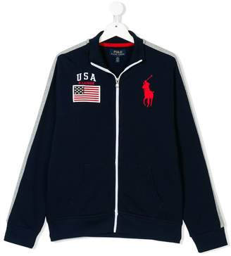Ralph Lauren Kids logo track top