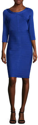 JS Collections Scoopneck Work Sheath Dress