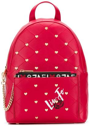 Liu Jo heart studded backpack