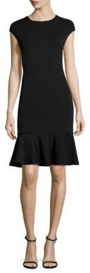 Polo Ralph Lauren Ruffle-Hem Ponte Dress $298 thestylecure.com