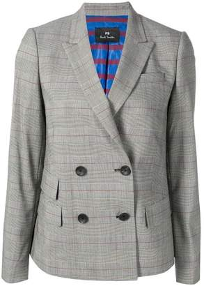 Paul Smith double breasted check blazer