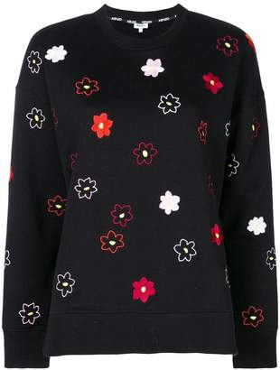 Kenzo flower embroidered sweatshirt