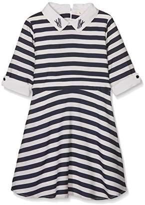 Yumi Girl's Nautical Stripe Dress (Navy), Blue
