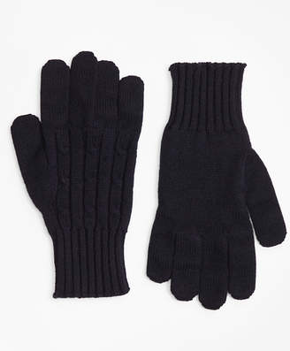 Brooks Brothers Cashmere Cable Gloves