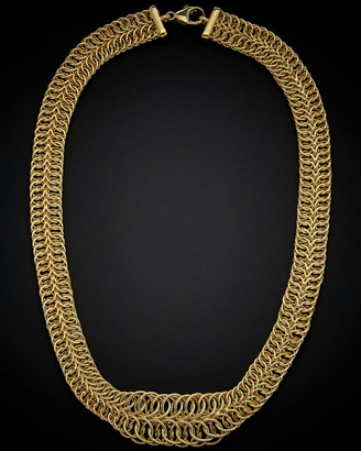 14K Italian Gold Graduated Round Link Necklace